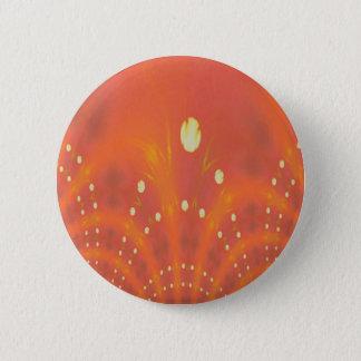 Artistic Peach Yellow Suns Fantasy Worlds Button