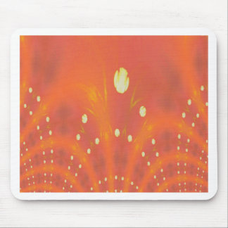 Artistic Peach Yellow Suns Fantasy Worlds Mouse Pad