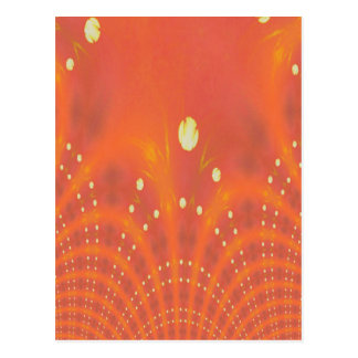 Artistic Peach Yellow Suns Fantasy Worlds Postcard
