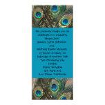 "Artistic Peacock Wedding Invitation 4"" X 9.25"" Invitation Card"