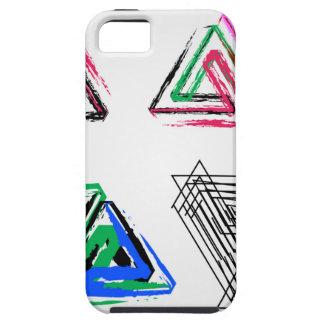 Artistic pen rose triangles iPhone SE/5/5s case