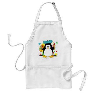 Artistic Penguin Adult Apron