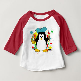 Artistic Penguin Baby T-Shirt