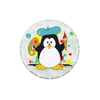 Artistic Penguin Candy Tins