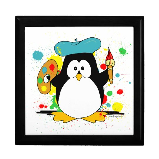 Artistic Penguin Jewelry Box