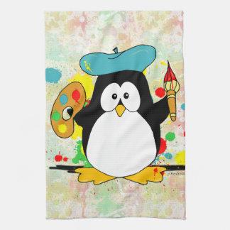 Artistic Penguin Kitchen Towel