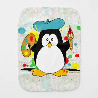 Artistic Penguin Baby Burp Cloths