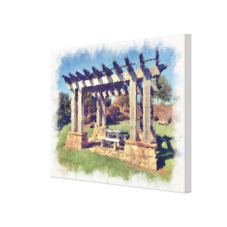 Artistic Pergola Structure Stretched Canvas Prints