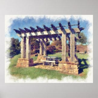Artistic Pergola Structure Print