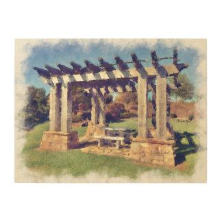 Artistic Pergola Structure Wood Canvases