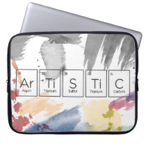 Artistic Periodic Table Neoprene Laptop Sleeve