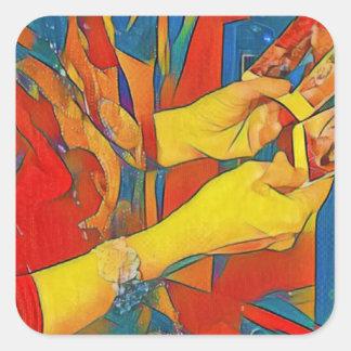 Artistic Physic Tarot Reading Square Sticker