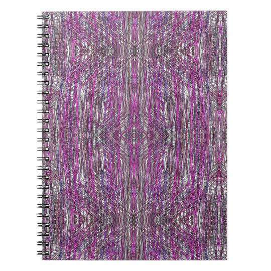 Artistic Pink and Gray Lines Spiral Notebook