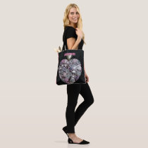 Artistic Pink Heart Breast Cancer Support Tote Bag