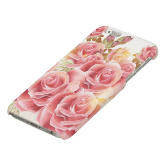 Artistic Pink Roses Matte iPhone 6 Case