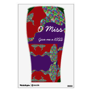 Artistic Pint -  O MISS give me a KISS Wall Sticker
