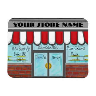Artistic pizza parlor business referral magnet