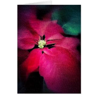 Artistic Poinsettia Christmas Card