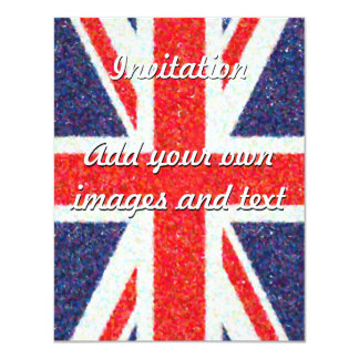 Artistic Pointillist UK Union Jack Flag Card