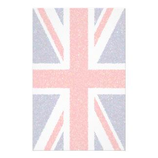Artistic Pointillist UK Union Jack Flag Stationery