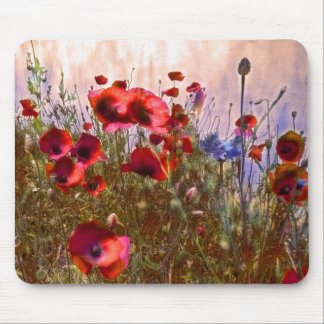 Artistic poppies mouse pad