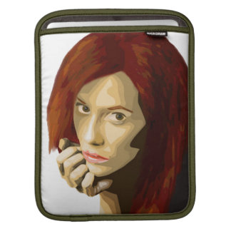 Artistic portrait of a beautiful woman staring sleeve for iPads
