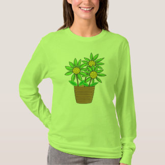 Artistic Potted Sunflower T-Shirt