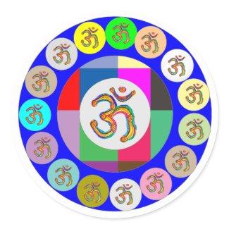 Artistic Presentation Matters - Dr Mantra Navin Round Sticker