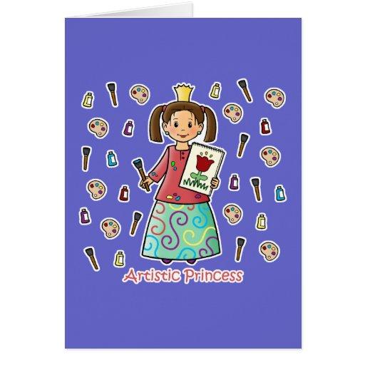 Artistic Princess Greeting Cards