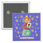 Artistic Princess Pinback Button