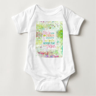 Artistic Proverbs 31:25 Baby Bodysuit