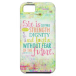 Artistic Proverbs 31:25 iPhone SE/5/5s Case