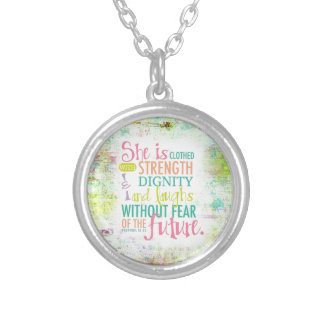 Artistic Proverbs 31:25 Custom Jewelry