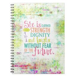 Artistic Proverbs 31:25 Notebook