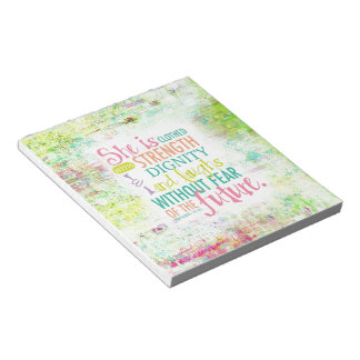 Artistic Proverbs 31:25 Note Pad