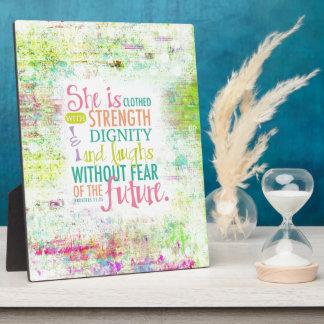 Artistic Proverbs 31 25 Plaques