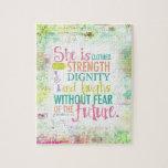 Artistic Proverbs 31:25 Puzzles