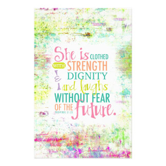 Artistic Proverbs 31:25 Stationery