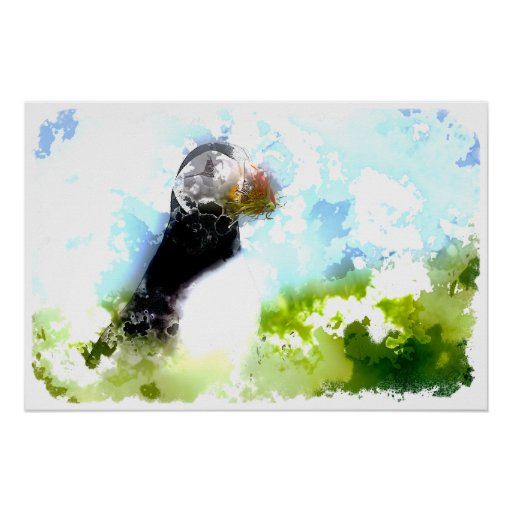Artistic Puffin Poster