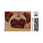 Artistic Pug Postage Stamps