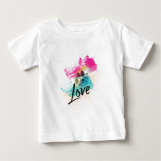 Artistic Puppy Love Baby T-Shirt