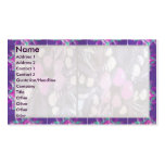 Artistic Purple Border n Light shade Floral Business Card Templates