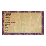 Artistic Purple Border n Light shade Floral Business Card Template