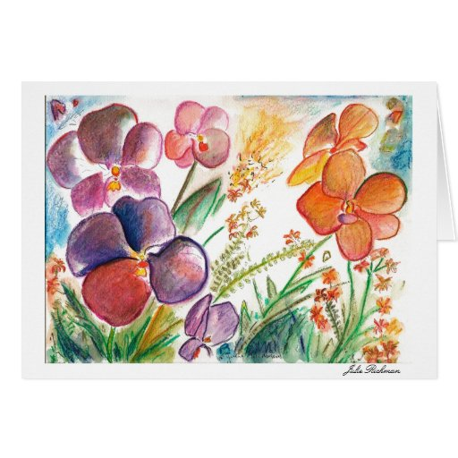 Artistic Purple Orchid Card