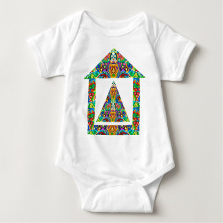 Artistic Pyramid House Baby Bodysuit