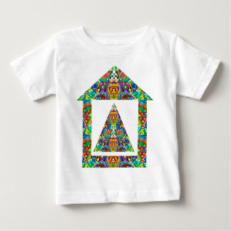 Artistic Pyramid House Baby T-Shirt