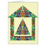 Artistic Pyramid House Card