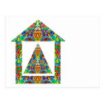 Artistic Pyramid House Post Cards