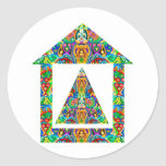 Artistic Pyramid House Stickers