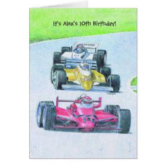 Artistic racecars customizable invitations